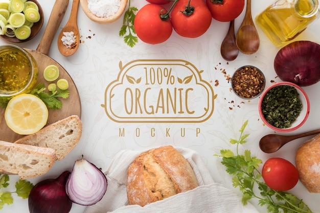 Marco de vegetales orgánicos