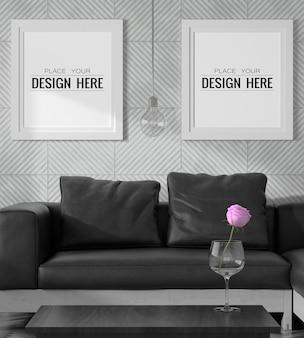 Marcos de póster en la sala de estar