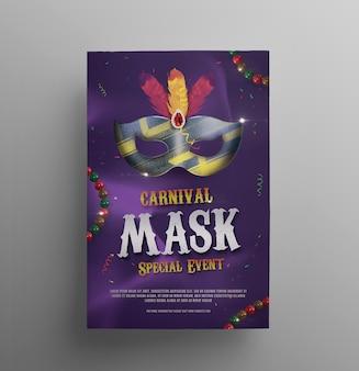 Mardi gras carnaval flyer