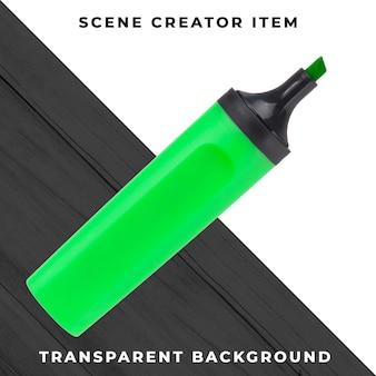 Markeerstiftobject transparant psd