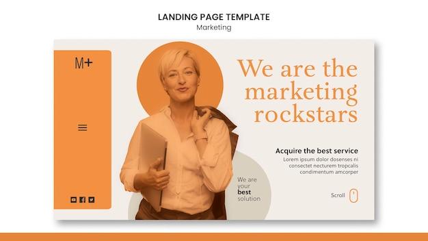 Marketing bestemmingspagina sjabloon