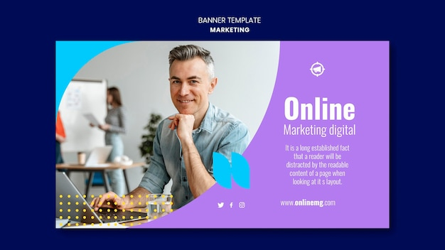 Marketing horizontale banner sjabloon