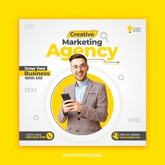 Marketing instagram social media postsjabloon