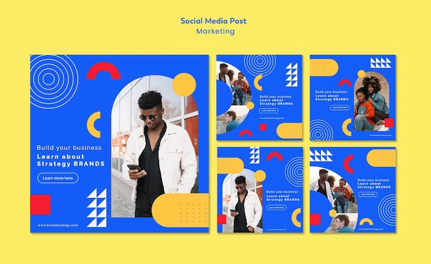 Marketing sociale media post-sjabloon