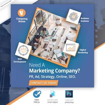 Marketing zakelijke sociale media webbanner
