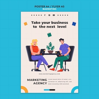 Marketingbureau flyer-sjabloon