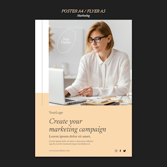 Marketingcampagne afdruksjabloon