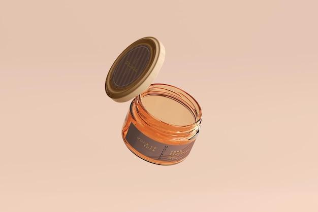 Marmelade glazen pot mockup