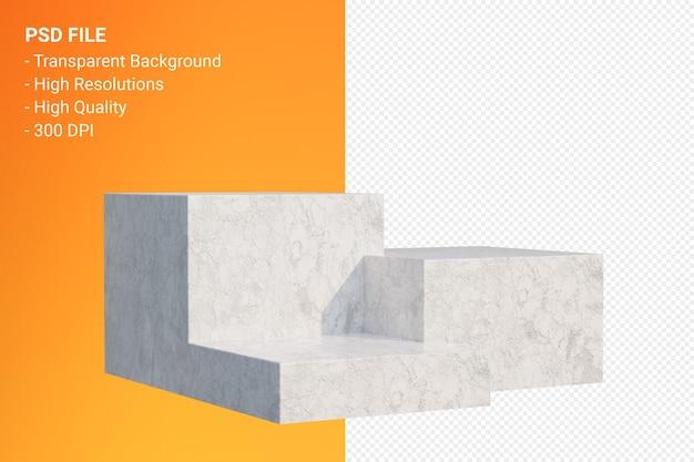 Marmeren podium minimaal geïsoleerd voor cosmetische productpresentatie