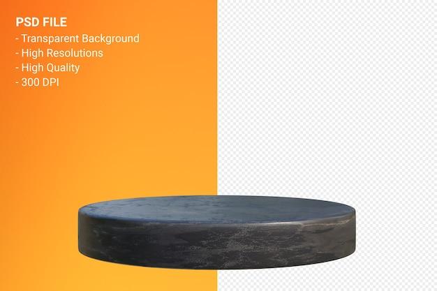 Marmeren podium minimaal ontwerp in 3d-weergave geïsoleerd