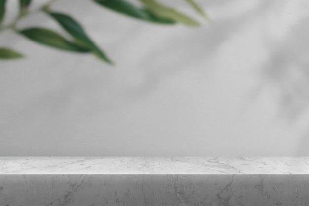 Marmeren productachtergrond mockup psd met schaduw