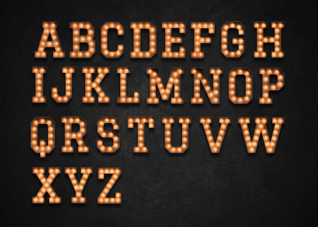 Marquee light alphabet az