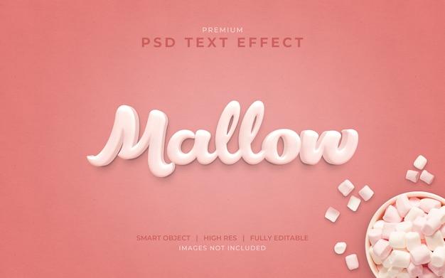 Marshmallow psd mockup effetto testo