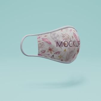 Maschera fatta a mano con il concetto di mock-up