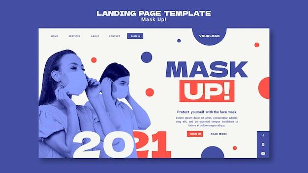 Masker de bestemmingspagina van 2021