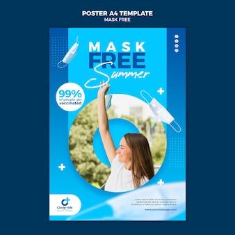 Masker gratis afdruksjabloon