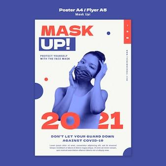 Masker omhoog 2021 verticale poster