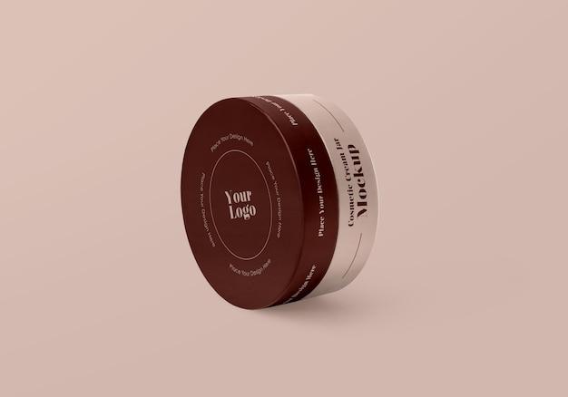 Mat cosmetische zalfpot mockup
