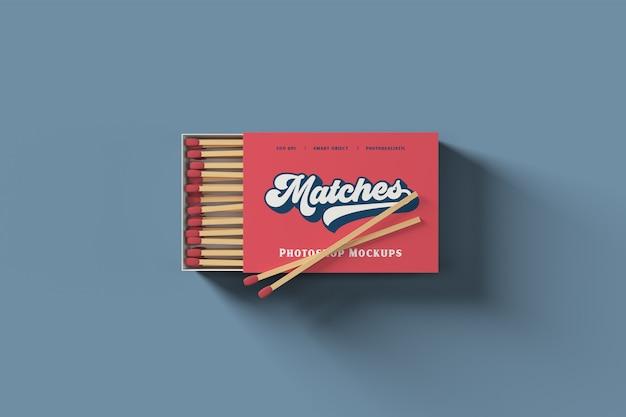 Match box mockup