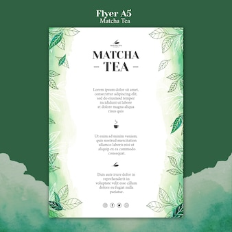 Matcha thee flyer concept mock-up