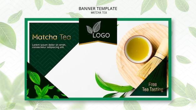 Matcha thee sjabloon voor spandoek