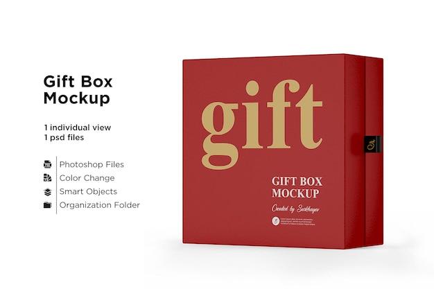 Matte gift box mockup geïsoleerd
