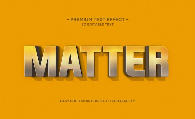 Matter 3d-tekststijleffect sjabloon