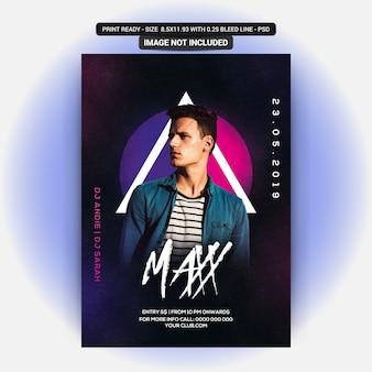 Max partij flyer