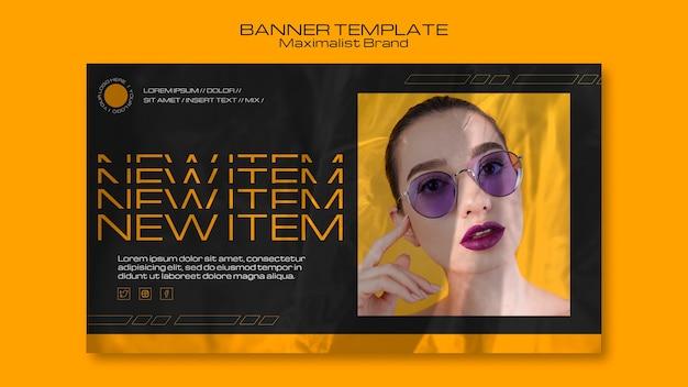 Maximalist nuovissimo modello di banner per oggetti