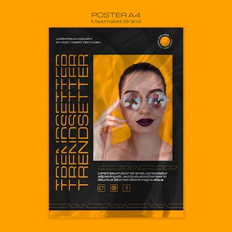Maximalistisch merk trendsetter poster sjabloon