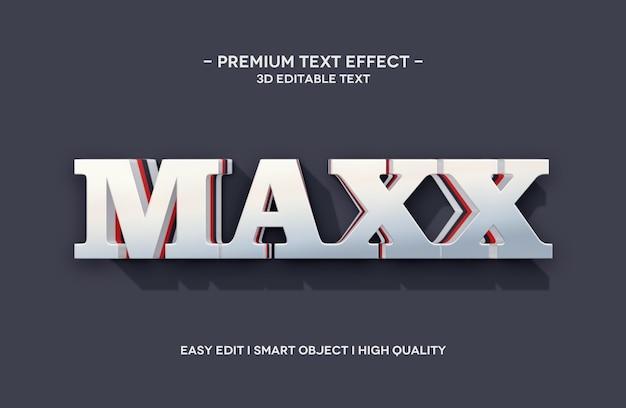 Maxx 3d-tekststijleffectsjabloon