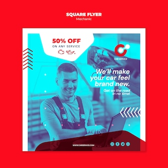 Mechanic flyer template thema
