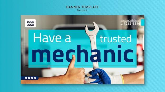 Mechanisch bannermalplaatje met foto