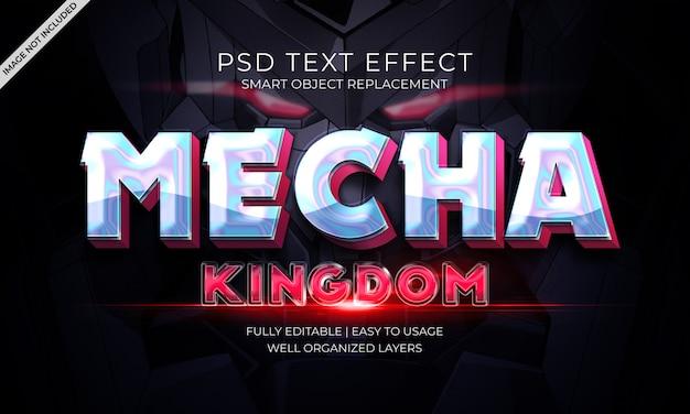 Mechanisch koninkrijk tekst effect