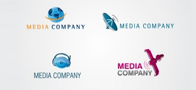 Media digitali vettore logo modelli