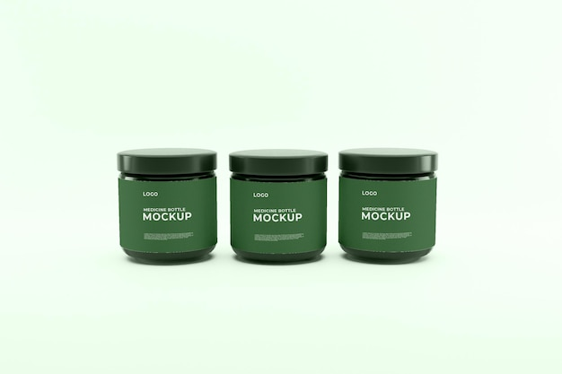 Medicijn groene fles mockup