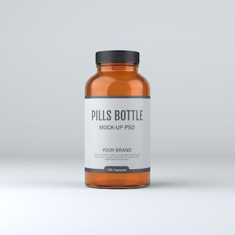 Medicina della bottiglia di pillola mockup