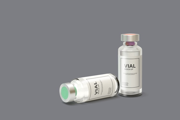 Medicina vial mockup