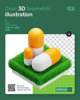 Medische 3d isometrische illustratie