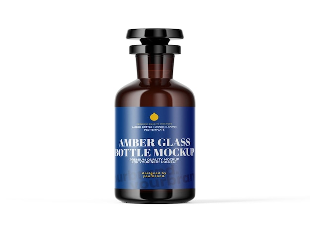 Medische amber jar bottle mockup