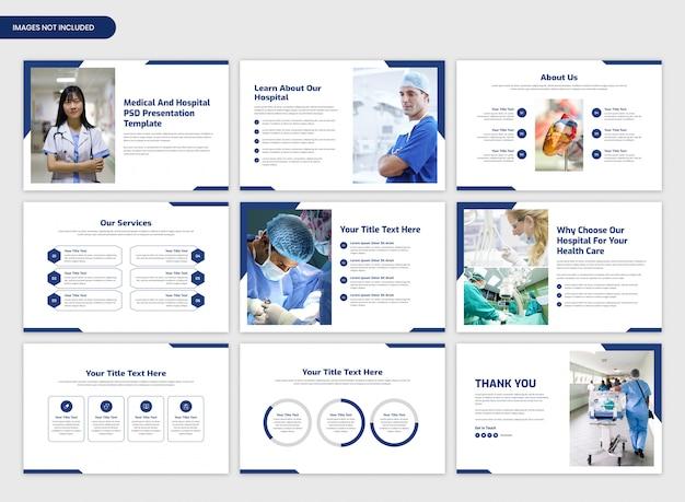 Medische en ziekenhuis presentatie schuifregelaar sjabloon