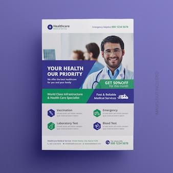 Medische flyer template design
