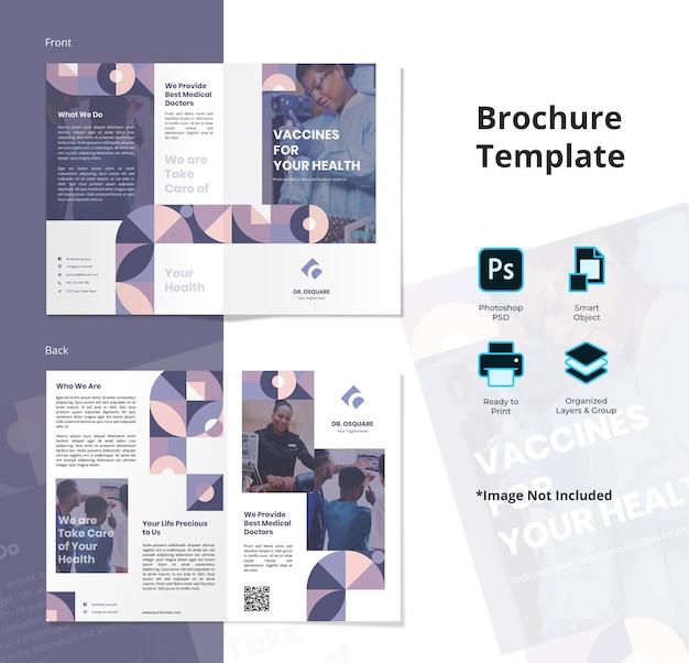 Medische tweevoudige brochure sjabloon