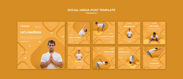 Meditatie concept social media post