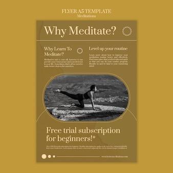 Meditatie en mindfulness flyer