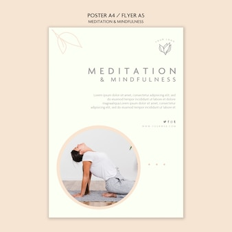 Meditatie en mindfulness poster concept