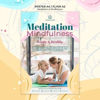 Meditatie en mindfulness posterontwerp
