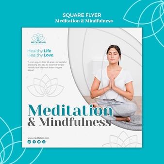 Meditatie flyer-sjabloon
