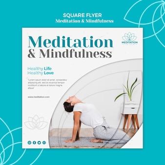 Meditatie flyer sjabloonontwerp