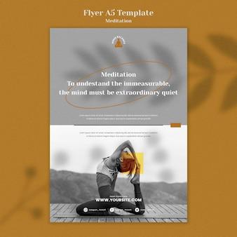 Meditatie levensstijl verticale afdruksjabloon